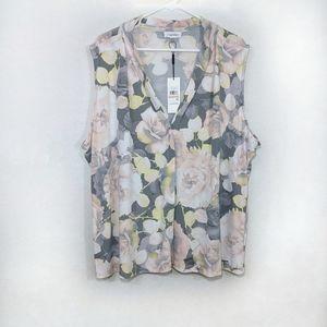 NWT CALVIN KLEIN floral suit blouse 2X